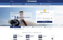Nowa strona internetowa Ryanair