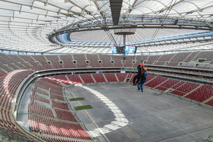 Kolejka tyrolska na Stadionie Narodowym