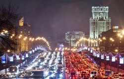 Moskwa walczy z korkami niższą prędkością