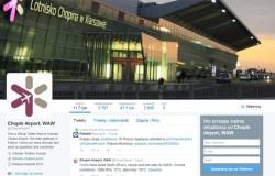 Lotnisko Chopina w czołówce na Twitterze