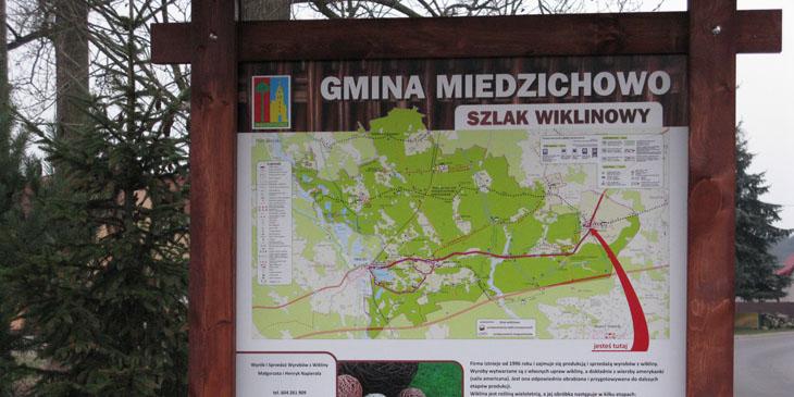 Szlak wiklinowy na terenie Gminy Miedzichowo