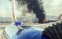 Samolot zapalił się podczas startu