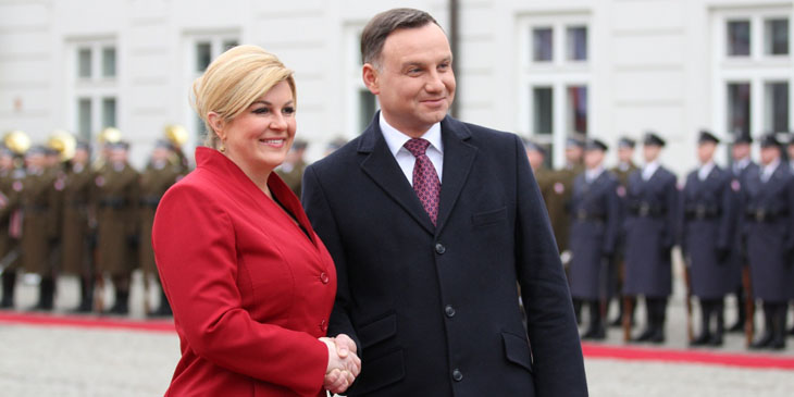 Prezydent Chorwacji Kolinda Grabar-Kitaroyić przybyła do Polski na ...