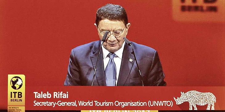 Ceremonia otwarcia ITB 2017 – wystąpienie Teleb Rifai, Sekretarza Generalnego UNWTO