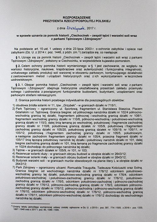 Ciechocińska Fabryka Soli Pomnikiem Historii
