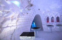 Lodowy hotel w Laponii