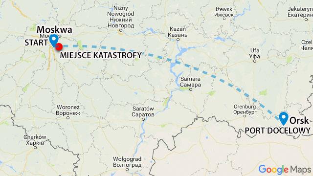 Katastrofa lotnicza pod Moskwą