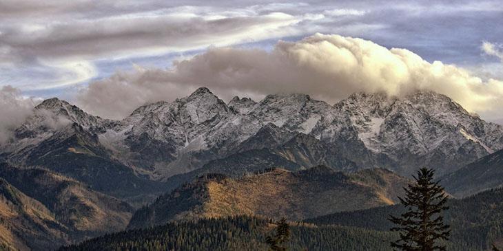 Widok na Wysokie Tatry po stronie Słowackiej