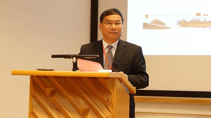 Wang Xiaofan, przewodniczący rady ds. promocji handlu międzynarodowego prowincji Anhui