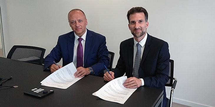 Bogdan Kurys (Sindbad Sp. z o.o.) oraz Hugo Roncal (Transdev Eurolines SA)