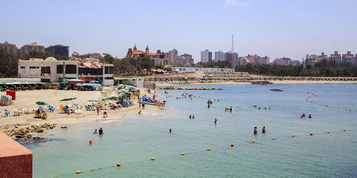 Plaża w Aleksandrii w Egipcie
