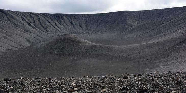 Efektowny krater wulkanu Hverfjall