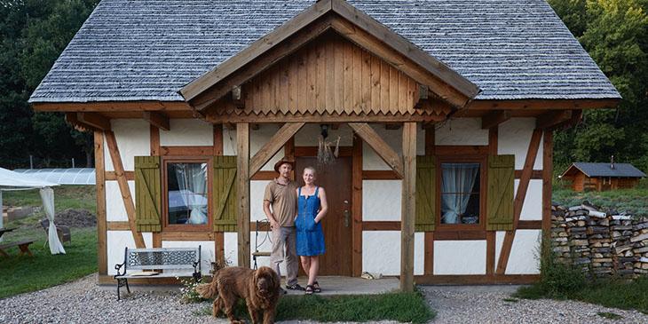 Barbara i Bartosz Idczakowie, właściciele Lawendowej Osady (foto: Konrad Królikowski)