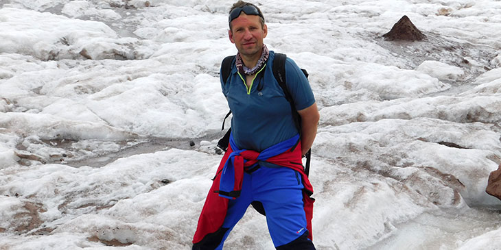 Grzegorz Gawlik - lodowiec Gergeti
