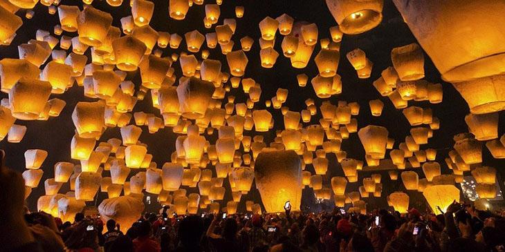 Taipei City Pingxi Sky Lantern Festival