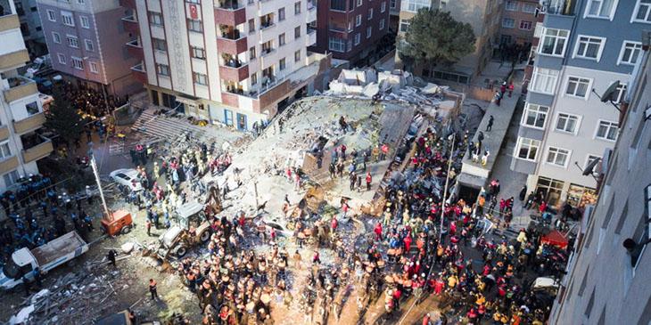 Katastrofa budynku w Stambule