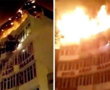 Hotel w New Delhi w płomieniach