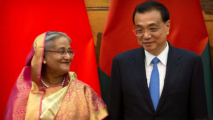 Li Keqiang i Sheikh Hasina