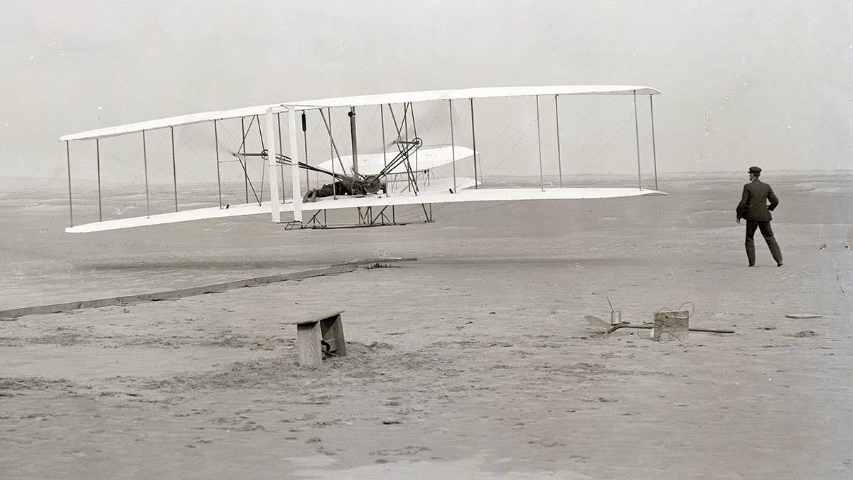 Pierwszy lot samolotem braci Wright