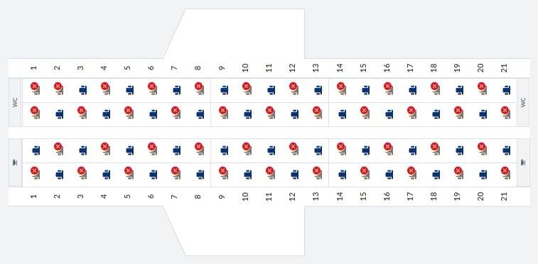 LOT rozkład siedzeń