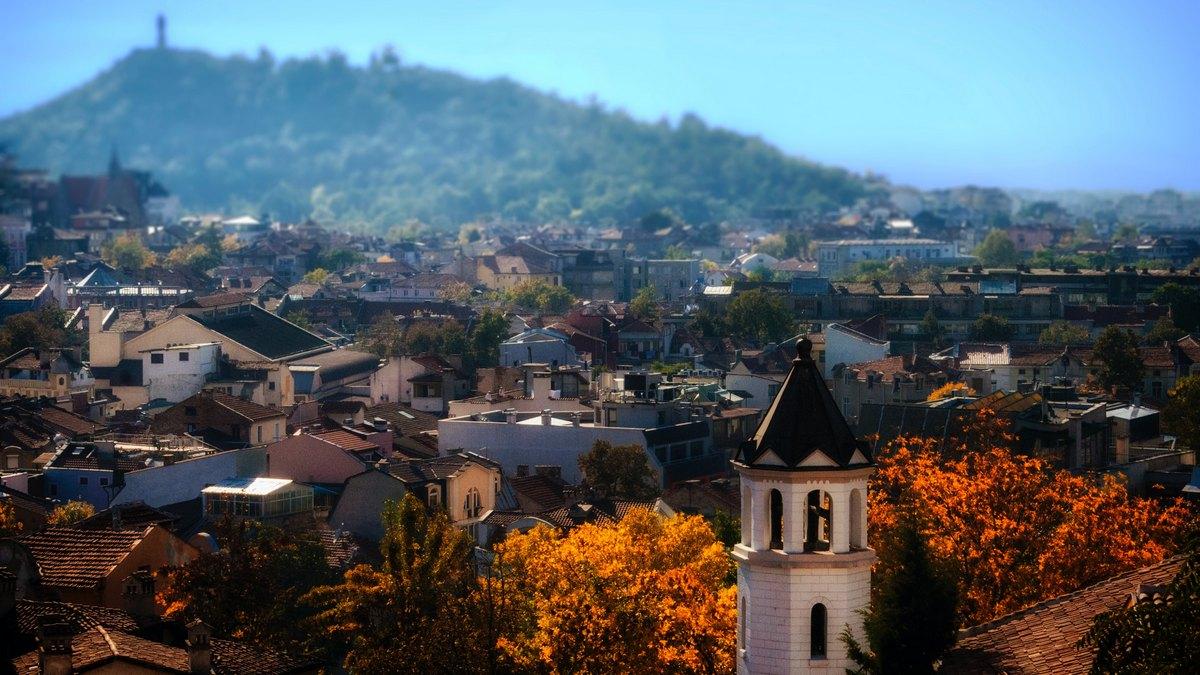 Panorama Płowdiwu w Bułgarii