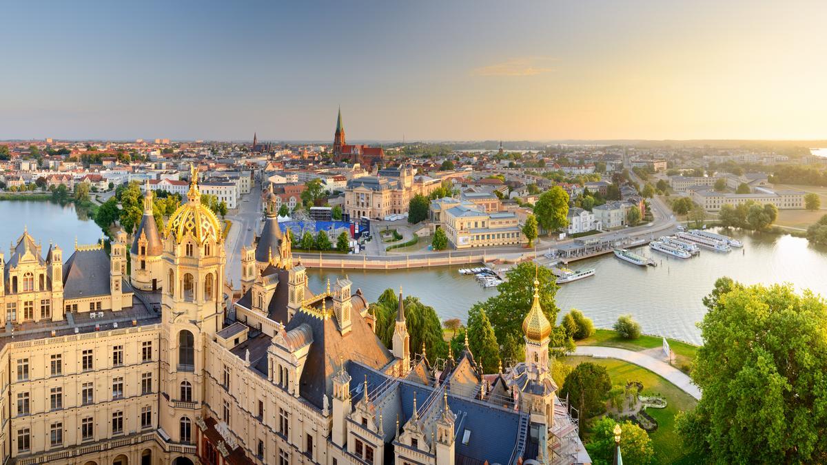 Schwerin: Zamek i panorama miasta