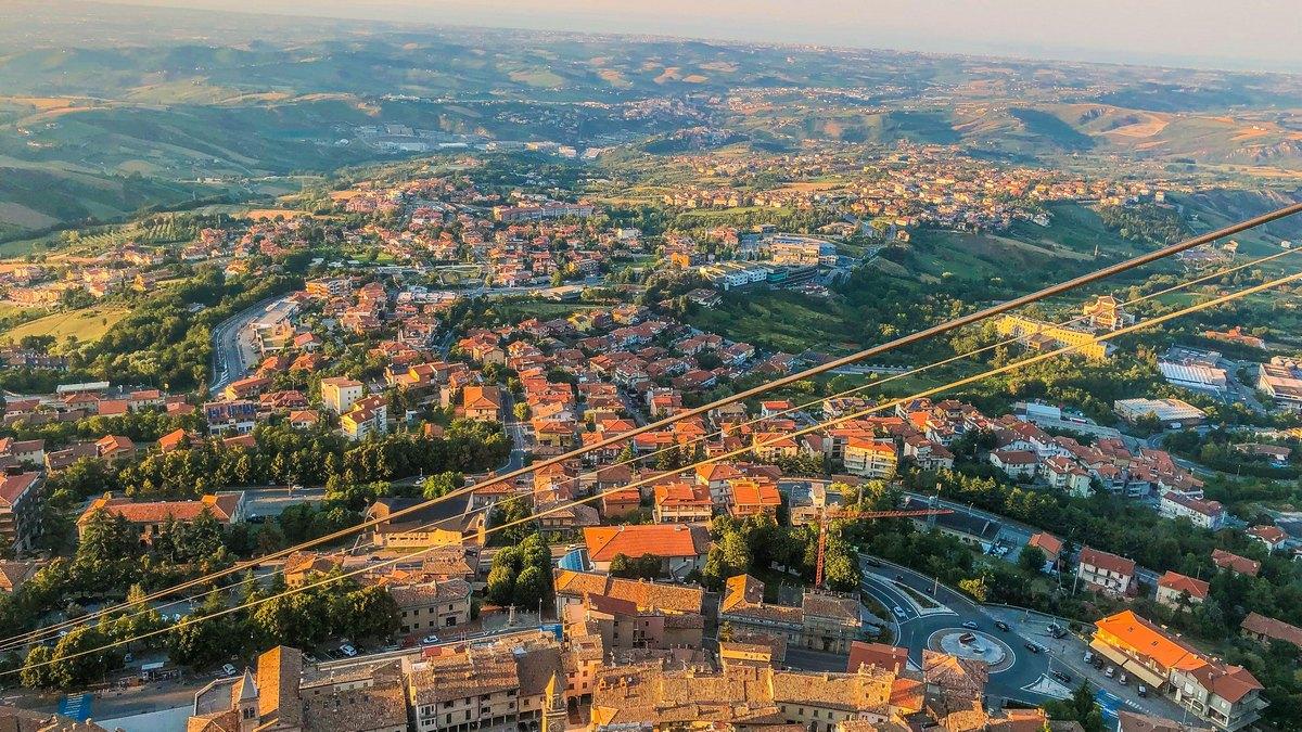 Widok na San Marino